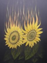 Flammende Sonnenblumen