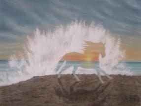 Kein Pferd am Strand