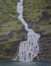 Ein Wasserfall dazwischen
